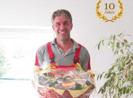 Andre Flatau 10 jähriges Dienstjubiläum